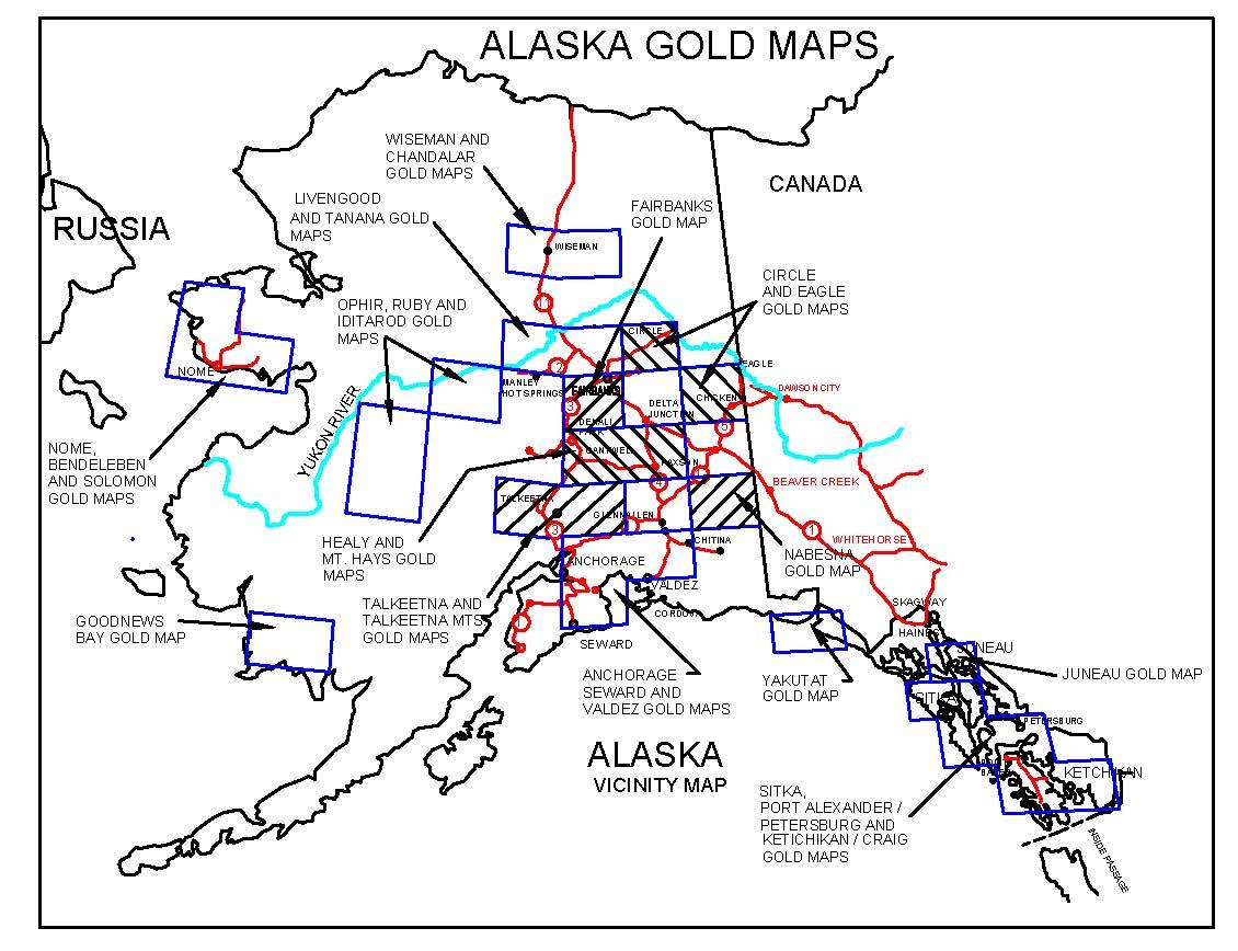 Alaska Gold Maps Alaska Gold Panning Alaska Gold Prospecting