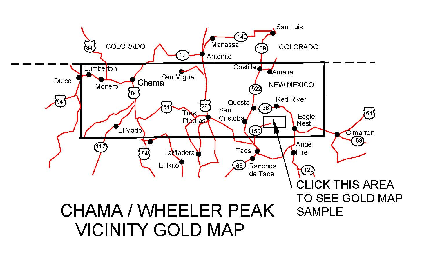 New Mexico Gold Maps Gold Placers And Gold Panning And Metal