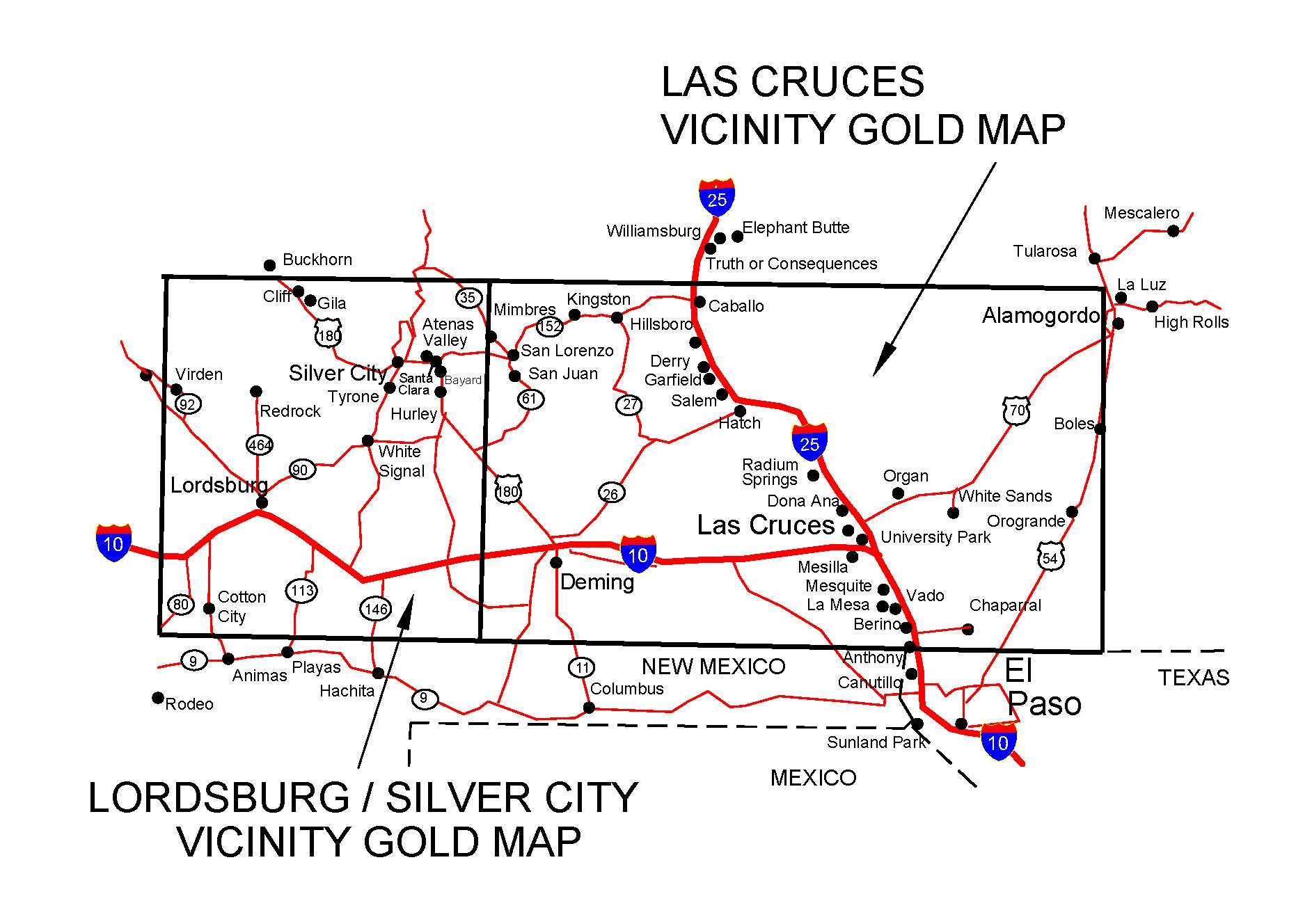 NEW MEXICO GOLD MAPS, GOLD PLACERS AND GOLD PANNING AND ... on new mexico cities and towns map, cliff dwellings colorado map, taos new mexico map, silver city nm, santa fe new mexico map, cimarron valley new mexico map, clovis new mexico map, district of columbia on us map, truth or consequences new mexico map, silver city historic district, espanola new mexico map, sky city new mexico map, jackson new mexico map, new mexico elk hunting unit map, silver city things to do, sumner new mexico map, carlsbad new mexico map, mexico before mexican-american war map, las cruces new mexico map, albuquerque new mexico city map,