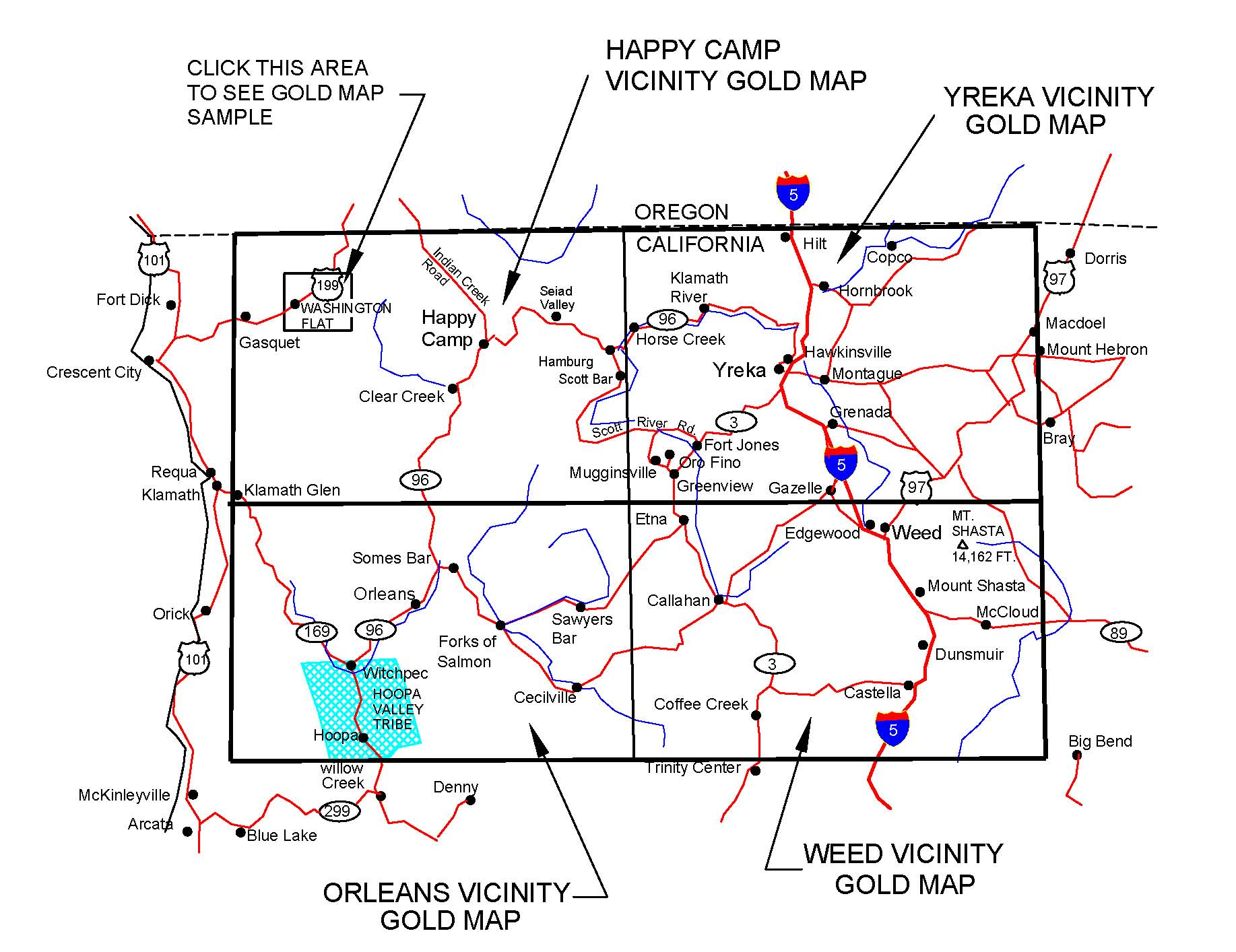 Ghost Towns In California Map.California Gold Maps Gold Placers And Gold Panning And Metal